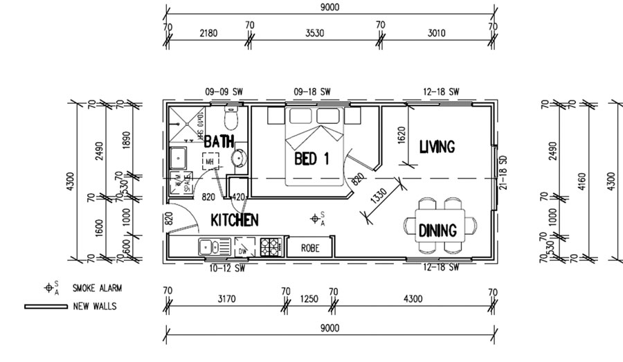 Free home plans granny flats floor plans for Granny flats floor plans